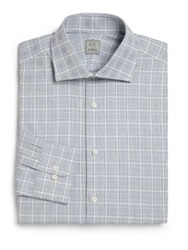 Ike Behar Regular Fit Plaid Dress Shirt Blue