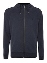 Original Penguin Block Texture Hooded Jumper Navy Marl