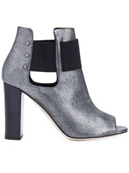 Jimmy Choo 'Mase 95' Ankle Boots Metallic