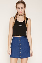 Forever 21 Ugh Graphic Crop Top