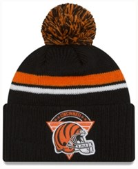 New Era Cincinnati Bengals Diamond Stacker Knit Hat Black Orange