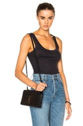Enza Costa Rib Fitted Bold Tank Top In Gray