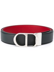 Christian Dior Homme Logo Buckle Belt Grey