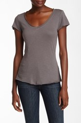 14Th And Union Raw Edge V Neck Tee Gray