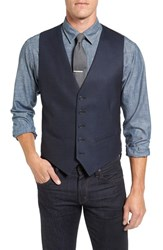 Nordstrom Men's Men's Shop Solid Wool Vest Navy