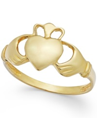 Macy's Claddagh Ring In 14K Gold
