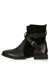 Topshop Aye Pirate Ankle Boots Black