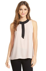 Vince Camuto Collared Sleeveless Blouse Rose Dusk