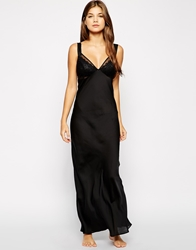 The Intimate Collection By Britney Spears Anemone Long Night Gown Black