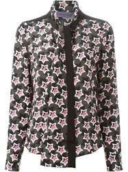 Emanuel Ungaro Pussy Bow Star Print Blouse Green