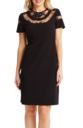 Donna Morgan Women's Lace And Crepe A Line Dress