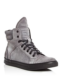 Kenneth Cole Double Header Ii High Top Sneakers Gray