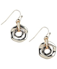 Nine West Earrings Tri Tone Orbital Fish Hook Earrings
