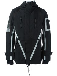 11 By Boris Bidjan Saberi Reflective Tape Detail Jacket Black