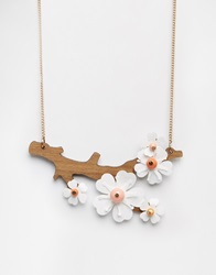 Tatty Devine Cherry Blossom Necklace Multi