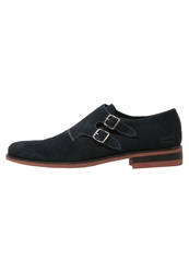 Melvin And Hamilton Erol Slipons Navy Red Dark Brown