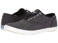 Keds Champion Tweed Black Men's Lace Up Casual Shoes