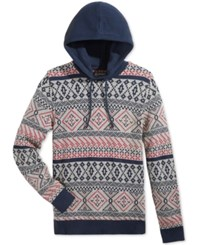 American Rag Men's Fair Isle Hooded Sweater Only At Macy's Fresh Mist