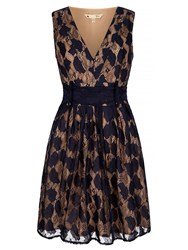 Yumi Vintage Lace Dress Navy
