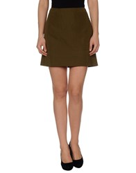 Jil Sander Skirts Mini Skirts Women Military Green