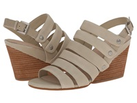 Naya Lassie Light Taupe Leather Women's Wedge Shoes Beige