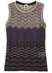 M Missoni Metallic Ripple Tank Gold