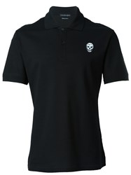 Alexander Mcqueen Skull Patch Polo Shirt Black