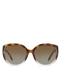 Michael Kors Floating Lens Round Sunglasses 60Mm Tortoise Clear Brown Gradient
