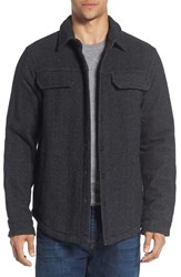 Prana Men's 'Wooley' Shirt Jacket Charcoal Tweed
