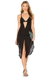 Salt Swimwear Pearl Dress Cover Up Black