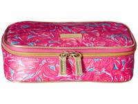 Lilly Pulitzer Cruising Cosmetic Case Sea Blue Flirty Cosmetic Case Pink
