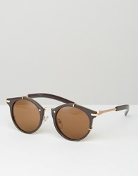Jeepers Peepers Round Sunglasses In Bronze Brown