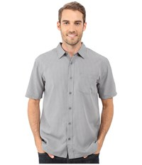 O'neill Ford Wovens Dark Charcoal Men's Short Sleeve Button Up Gray