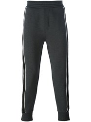 Neil Barrett Side Stripe Track Pants Grey