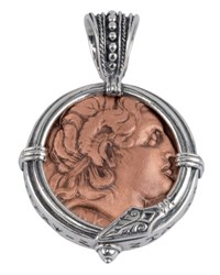Konstantino Men's Sterling Silver And Copper Alexander The Great Pendant