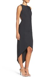 Misha Collection Women's 'Siran' Backless Asymmetrical High Low Dress
