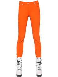 Kenzo Skinny Fit Cotton Twill Pants Orange