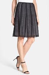Nic Zoe 'Batiste Flirt' Skirt Regular And Petite Black Onyx