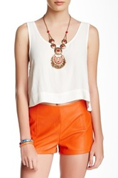 Minkpink Electric Feel Cropped Tank White