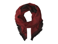 Givenchy Jacquard Wool Scarf Red