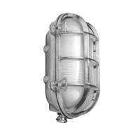 Oval Bulk Head Nickel Wall Light