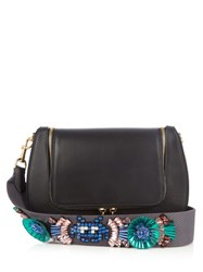 Anya Hindmarch Space Invaders Vere Leather Cross Body Bag Black