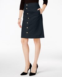 Charter Club Button Front Corduroy Skirt Only At Macy's Deepest Navy