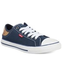 Levi's Stan Lace Up Sneakers Men's Shoes Navy Brown