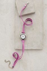 Anthropologie Peony Wrap Watch Pink