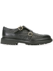 Doucal's 'Saverio' Monk Shoes Black