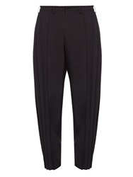 Issey Miyake Pleated Carrot Leg Trousers