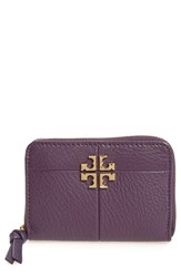 Tory Burch Women's Ivy Leather Coin Case Purple Nightshade