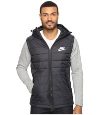 Nike Nsw Av15 Syn Hooded Jacket Black Dark Grey Heather White Men's Coat
