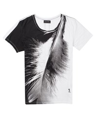 Religion Big Feather T Shirt White